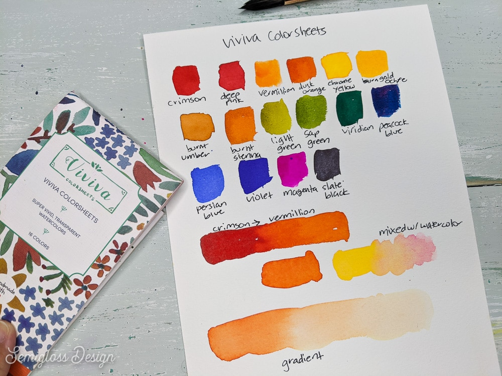 viviva colorsheets swatches and gradients