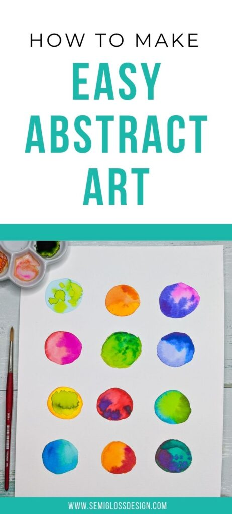 pin image - abstract watercolor dots of color