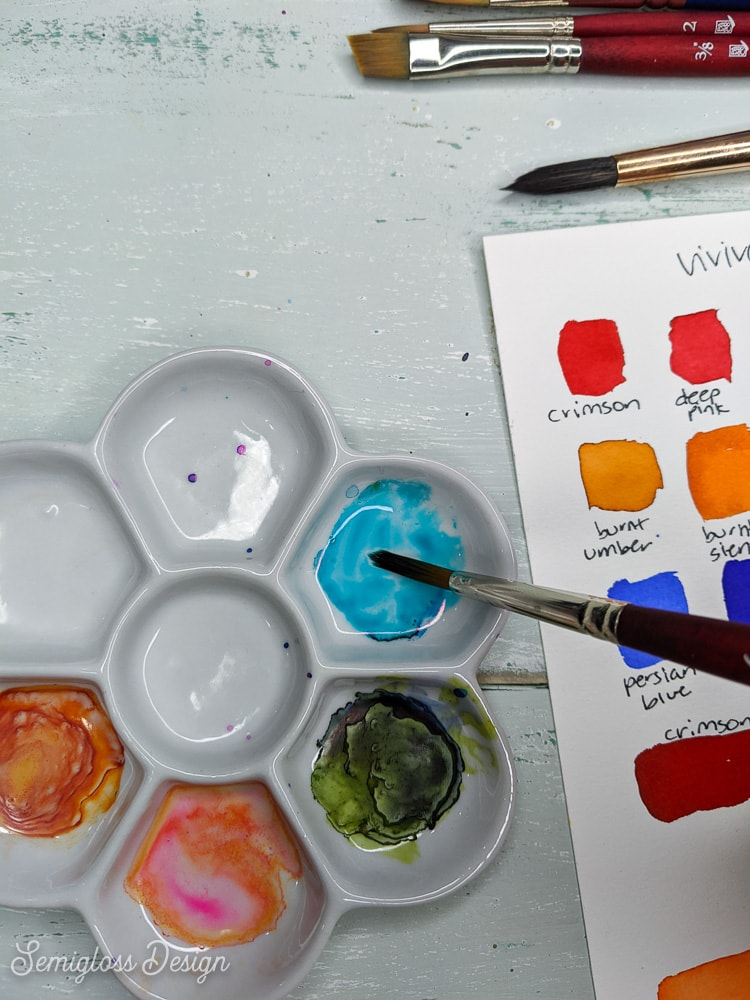 rewetting viviva colorsheets paint in palette