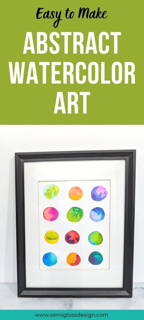 pin image - watercolor circles in a grid art