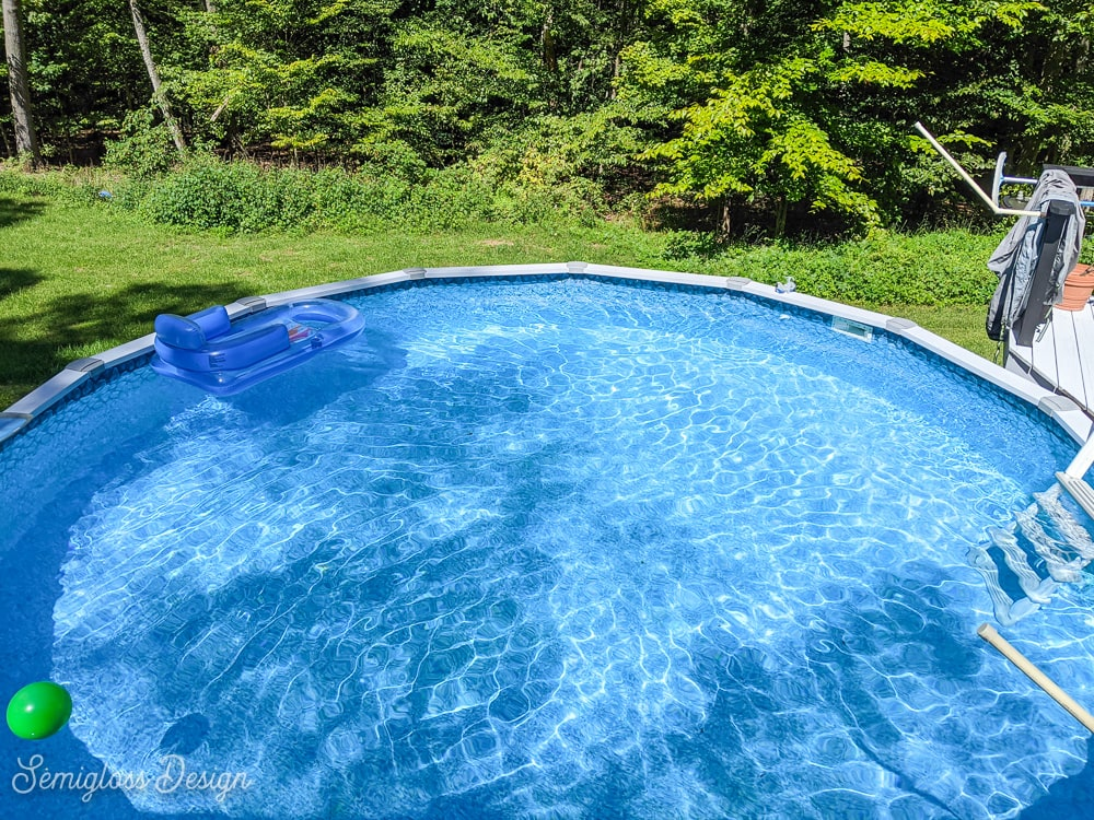 pool with float in it