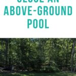 pin image - closing an above ground pool