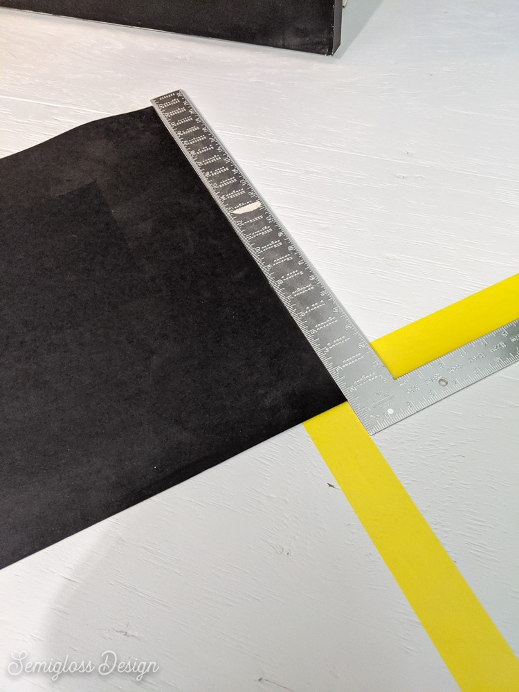 using carpenter square to get perfect checkerboards