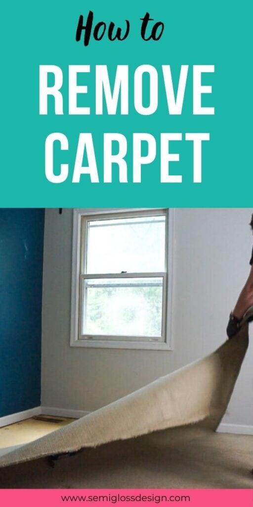 pin image - removing carpet