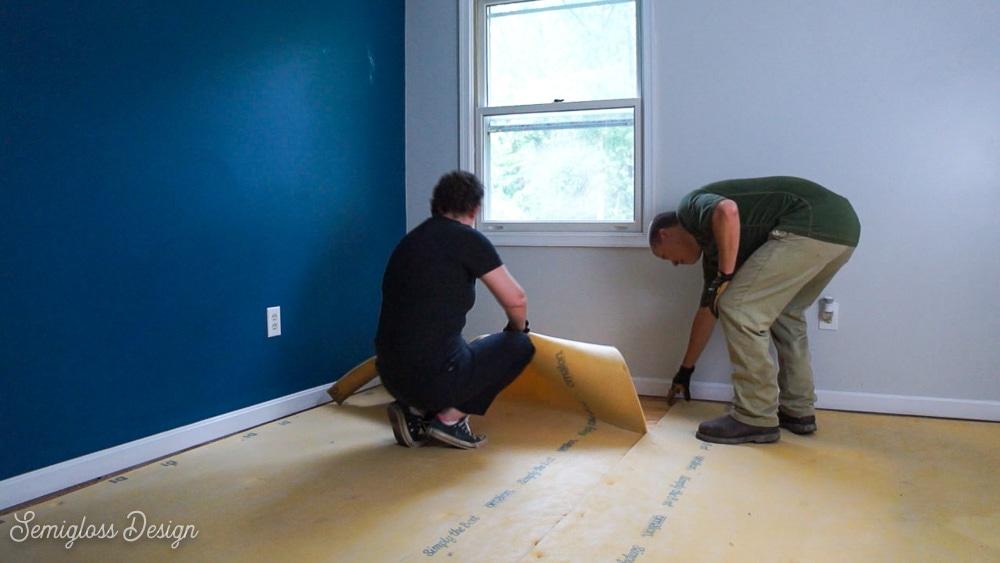 removing carpet padding