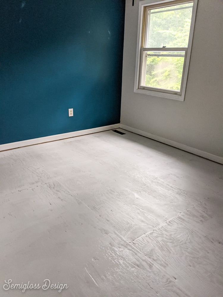 floor painted gray