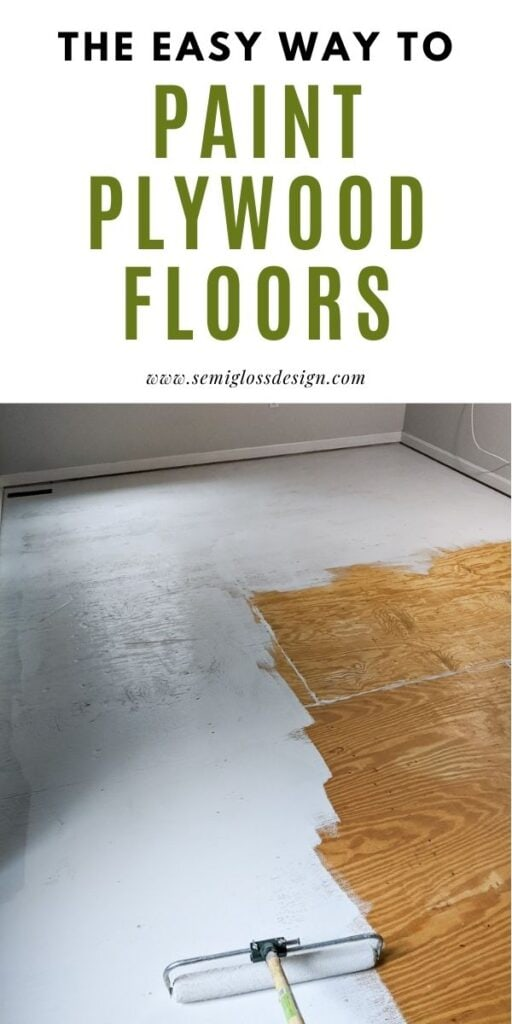 pin image - painting a plywood floor
