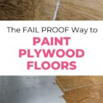 pin image - before and after of painted floor