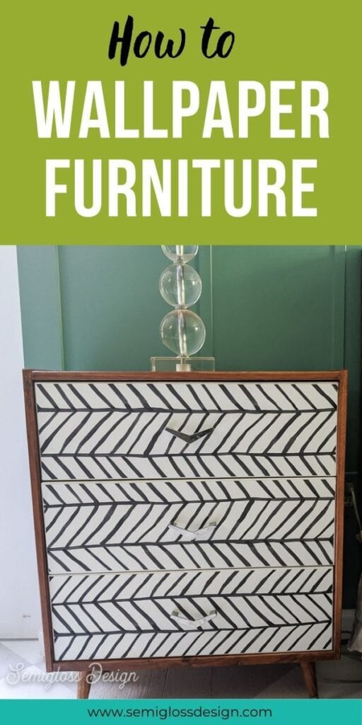 pin image - using peel and stick wallpaper on furniture