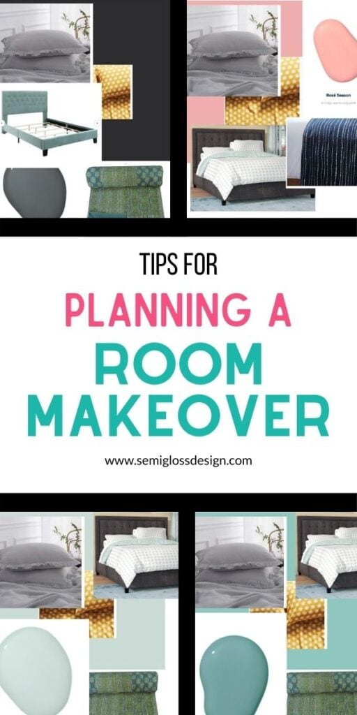 pin image - bedroom mood boards with text overlay