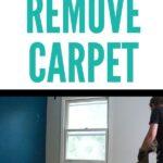 pin image - lady removing carpet