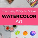 "watercolor art collage with text overlay"" The Easy Way to Make Watercolor Art"""