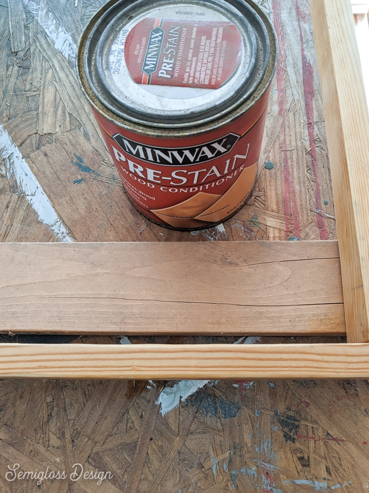 wood conditioner and wood frame