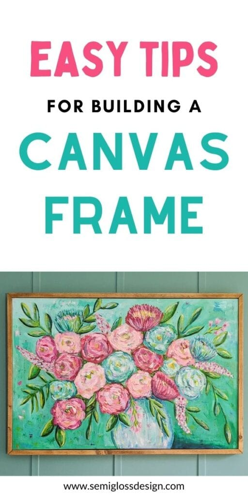 pin image - floral painting with wood frame