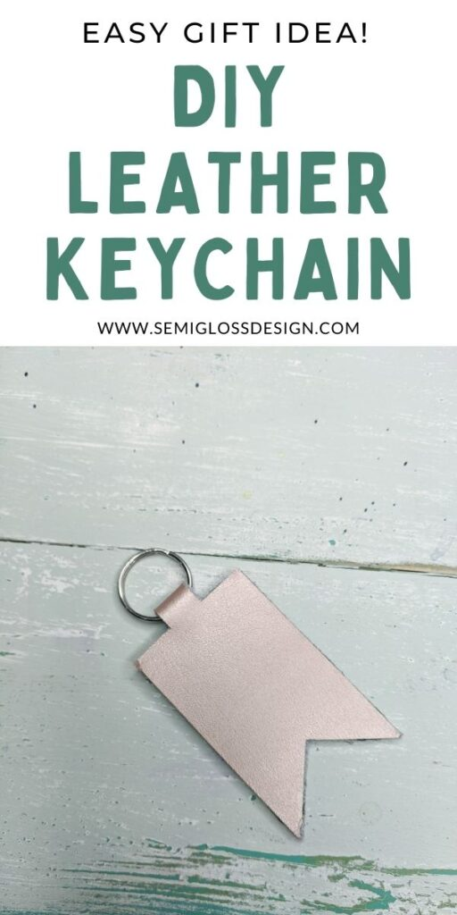 pin image - leather keychain with text overlay