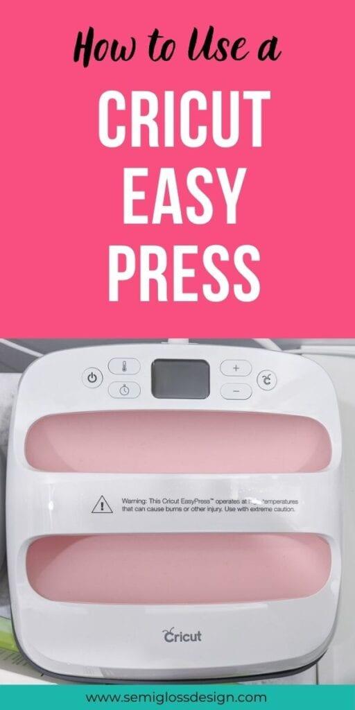 pin image - pink cricut easy press