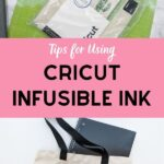 pin image - collage with cricut supplies and cat tote bag