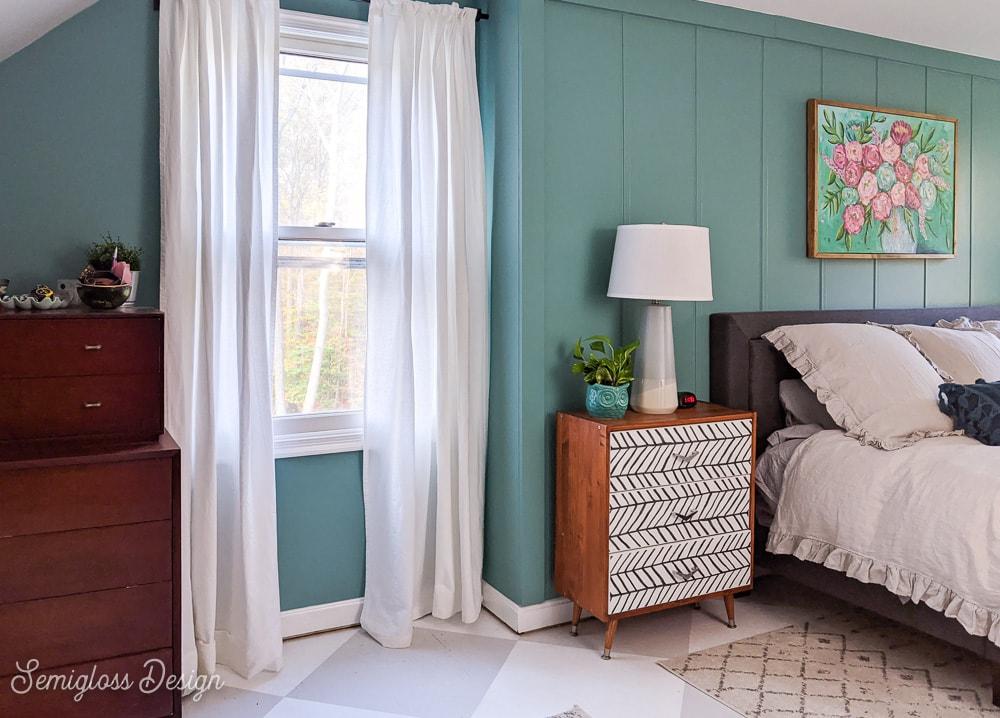 wide shot of bedroom