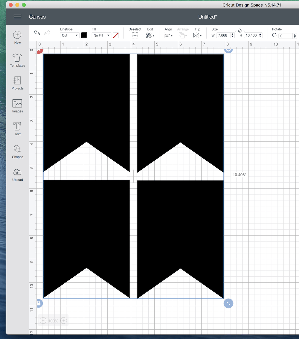 flag in Cricut design space