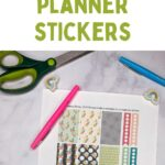 pin image - planner stickers on marble background