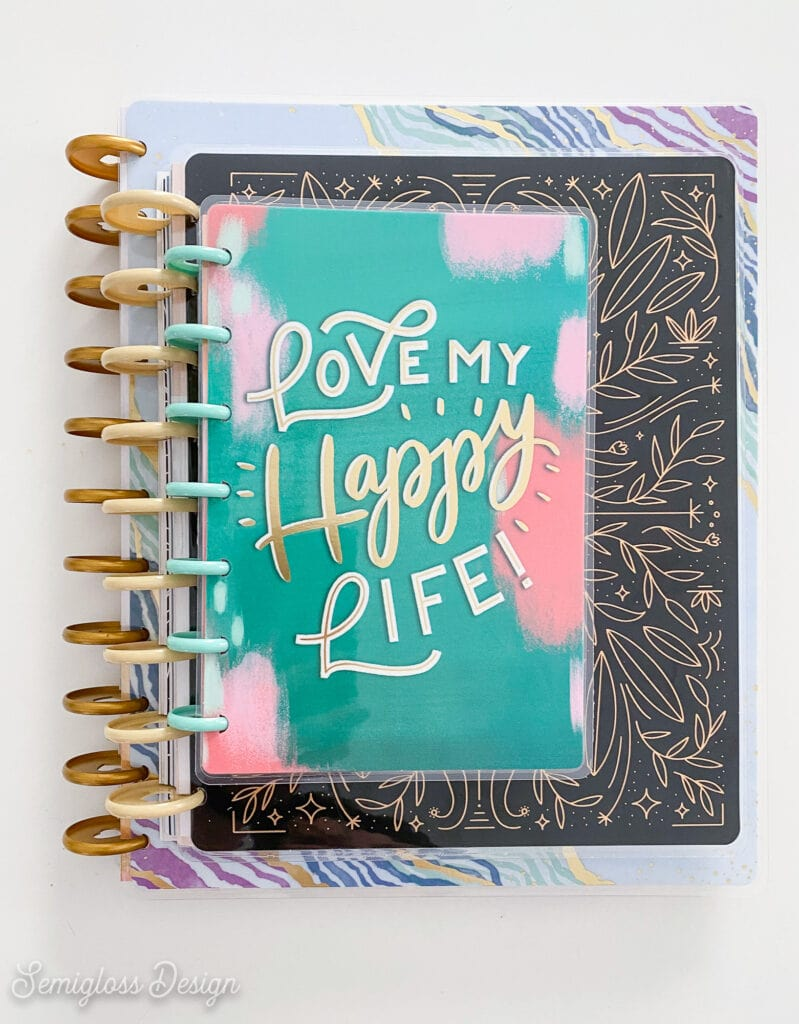 stack of happy planners