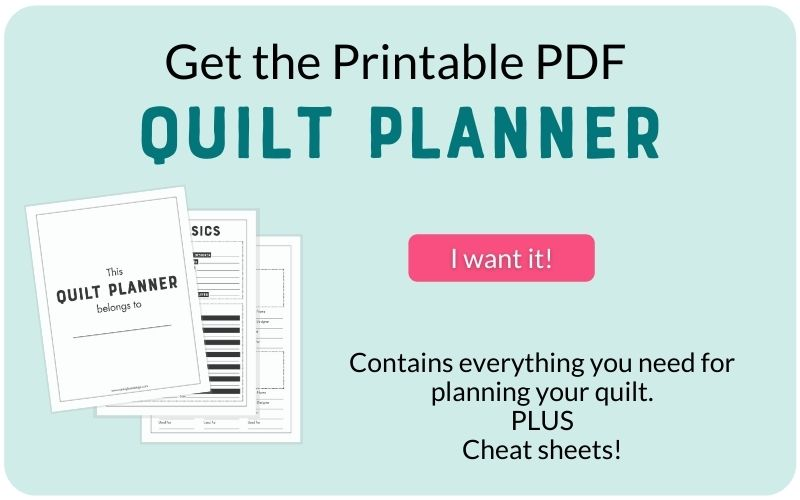 quilt planner on aqua background