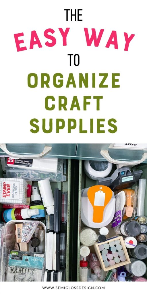 pin image - organized drawer with stamps and paper tools