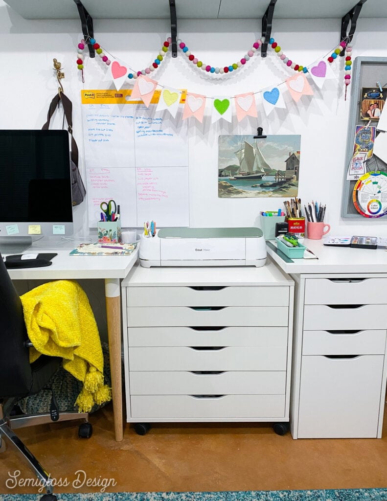 cricut maker on alex cabinet
