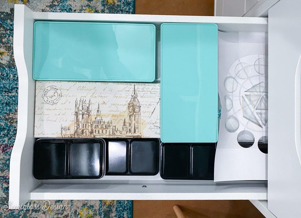 watercolor in desk drawer