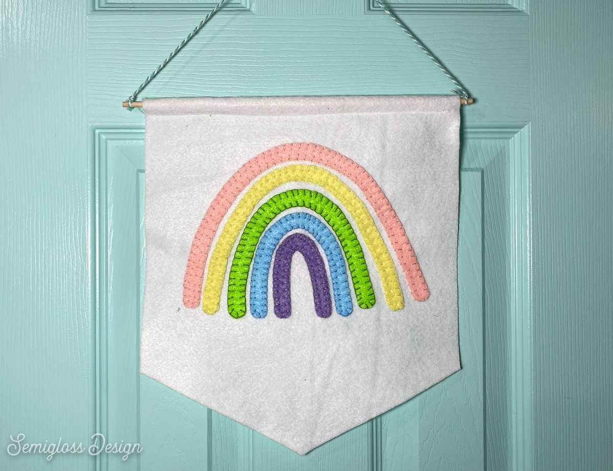 pastel rainbow wall hanging
