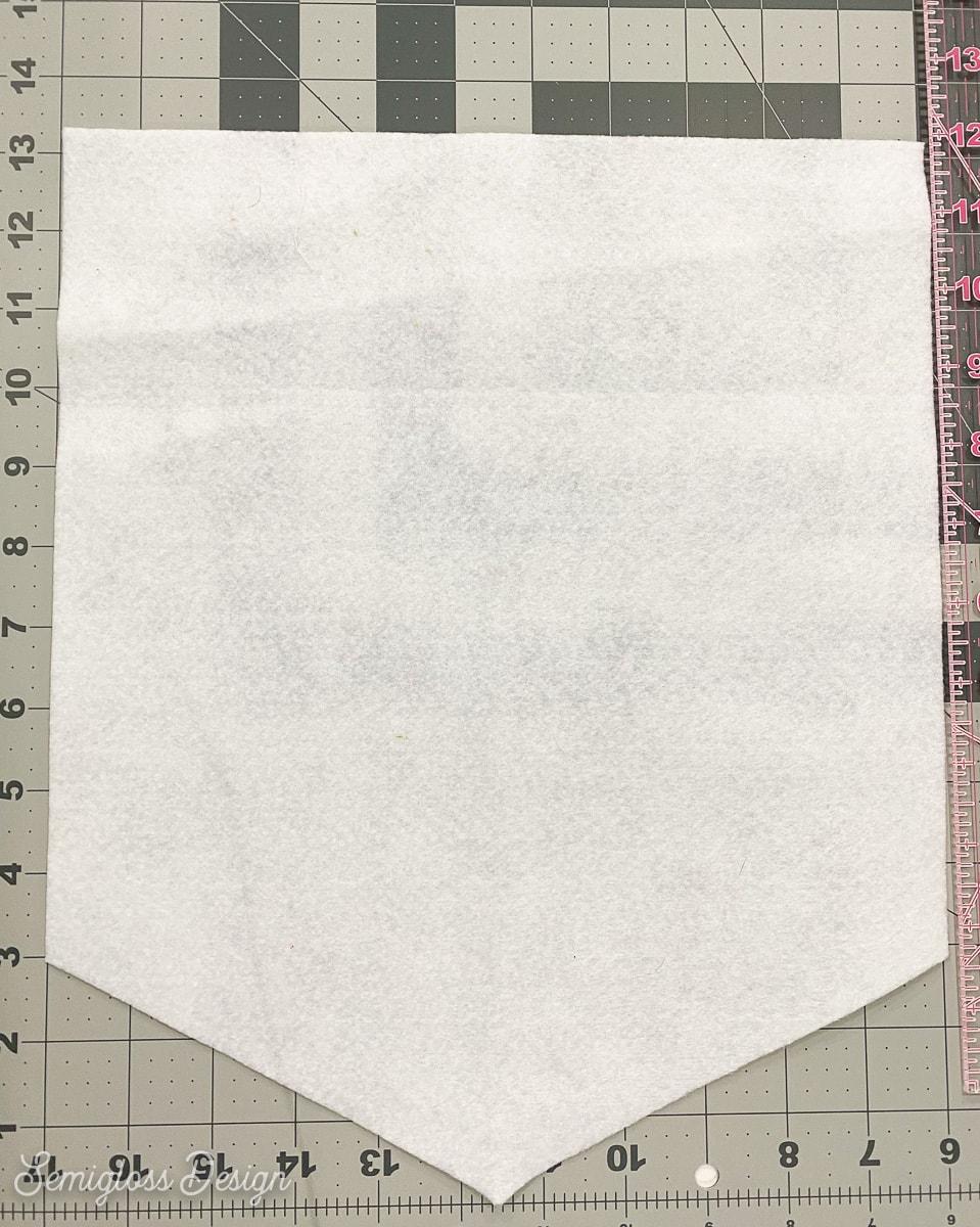 flag shape cut in felt