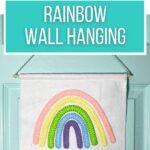 rainbow wall hanging made with felt