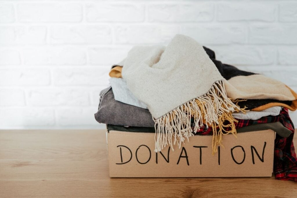 donation box of clothing