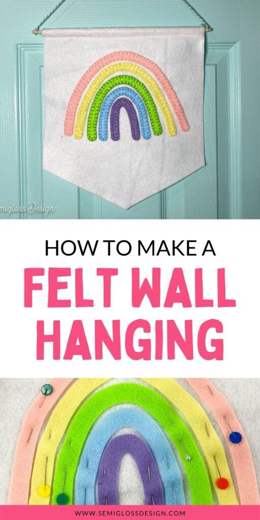 felt rainbow wall hanging