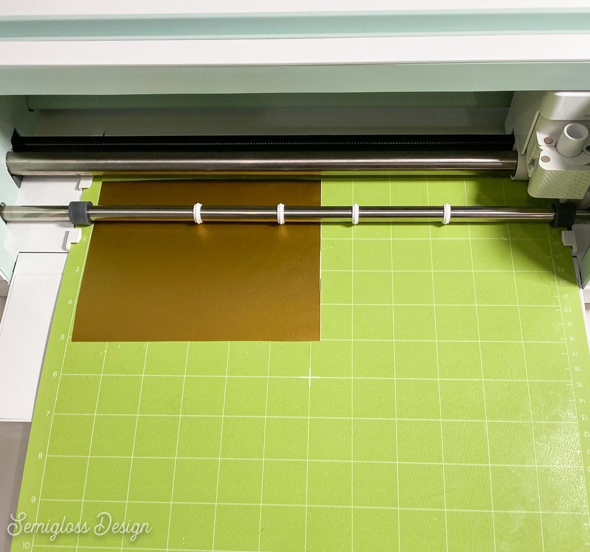 cricut maker cutting gold vinyl