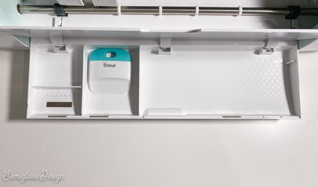 storage compartment of cricut maker