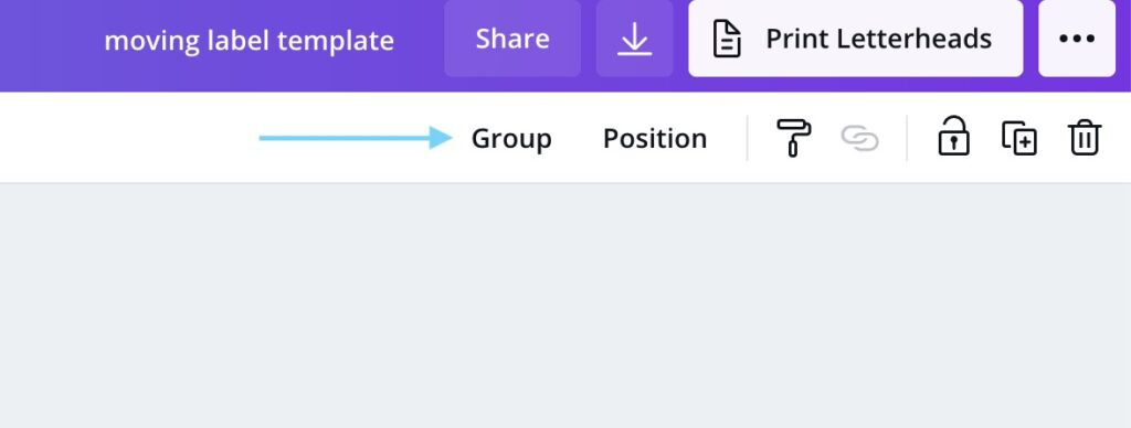 grouping in canva