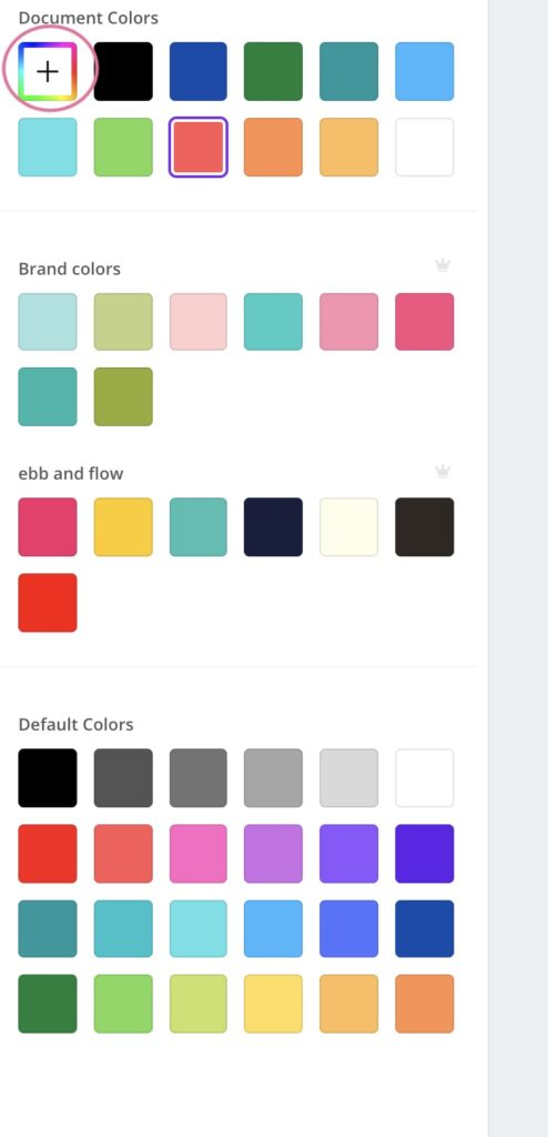color options in canva