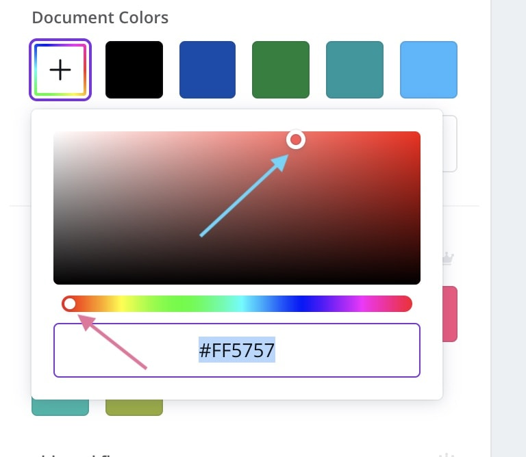 changing colors in canva