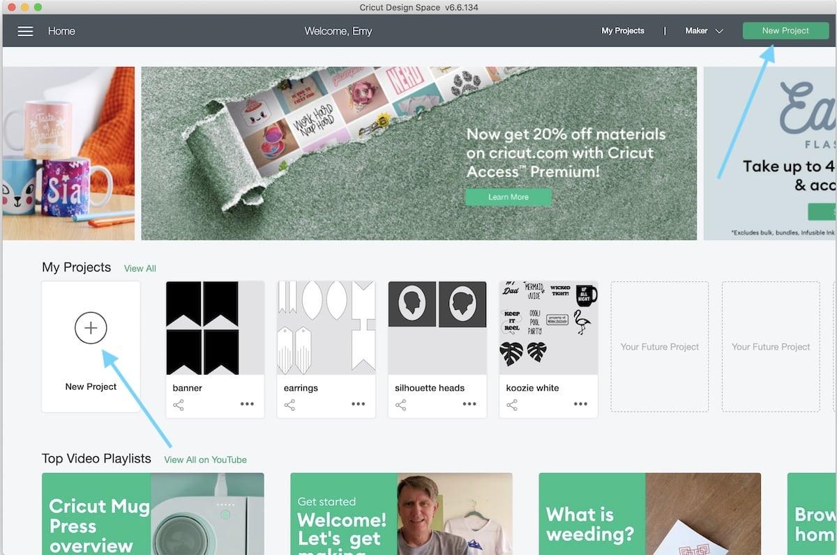 screenshot of Cricut design space