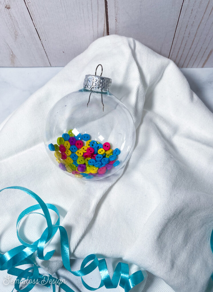 ornament filled with tiny buttons