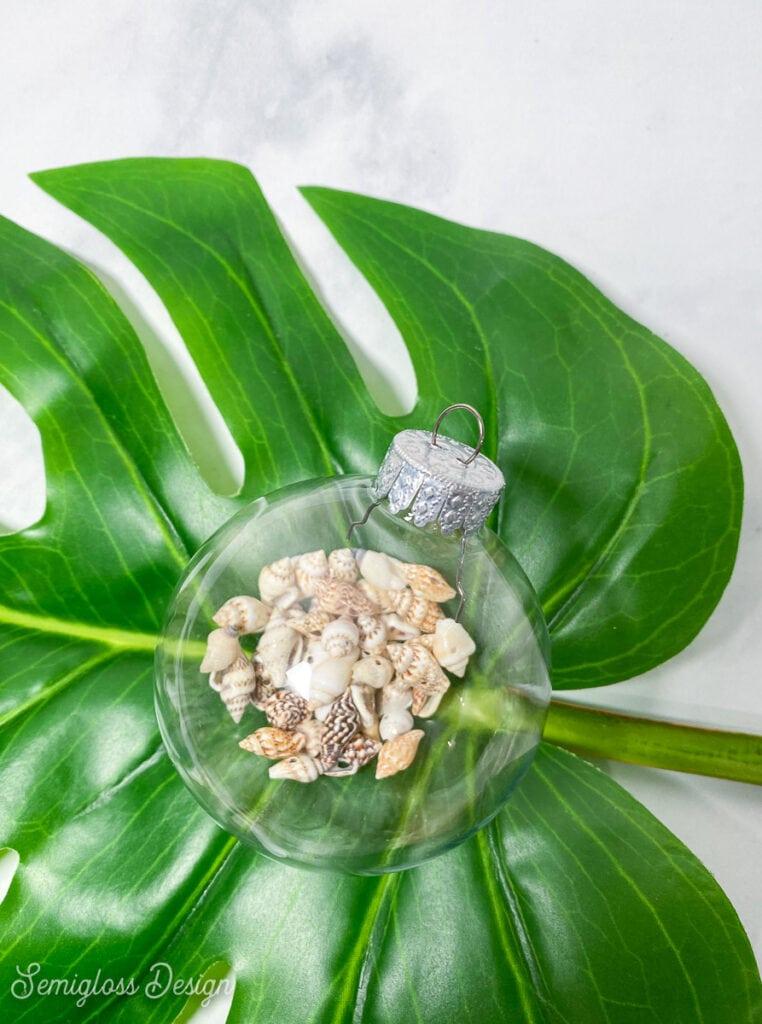 seashell filled ornament