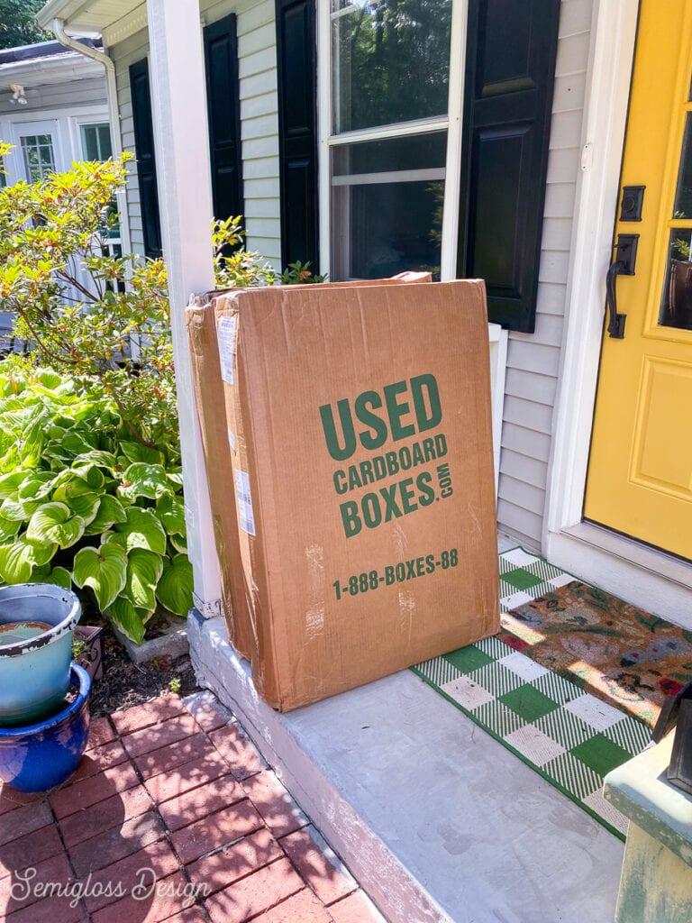 cardboard box shipment