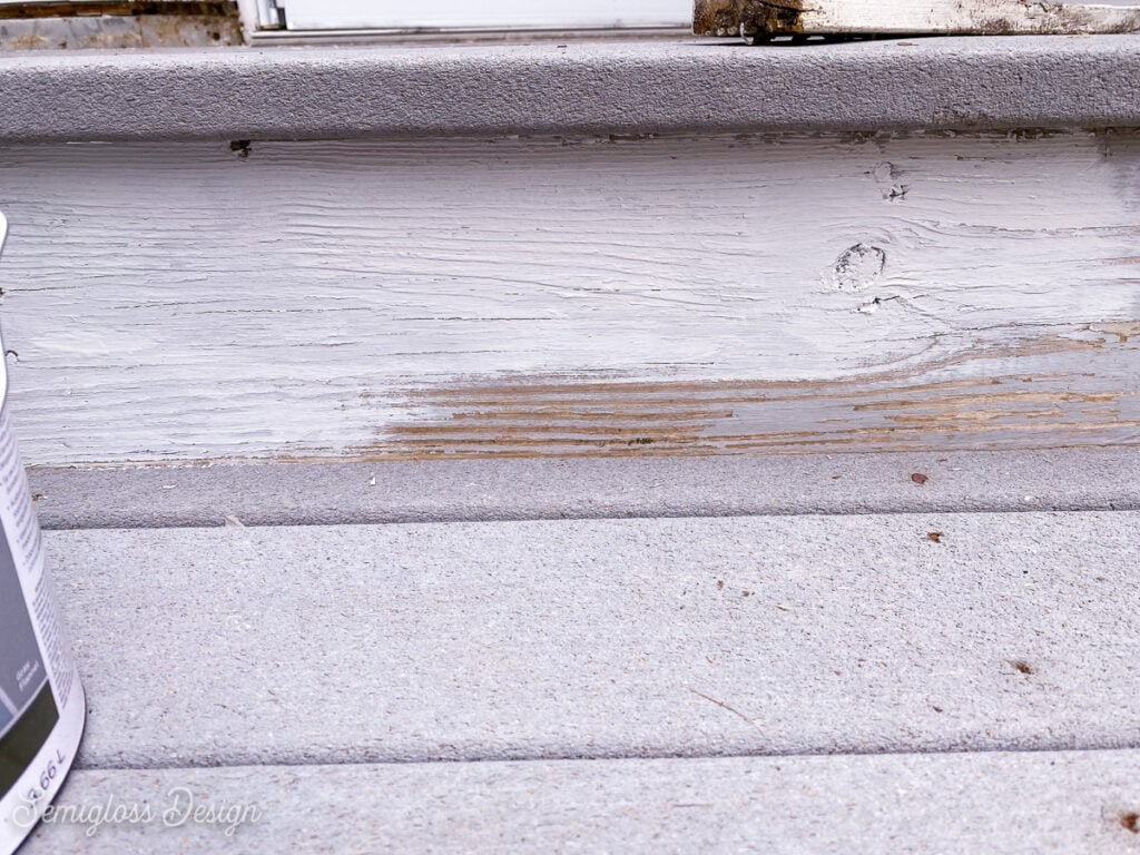painting gray wood