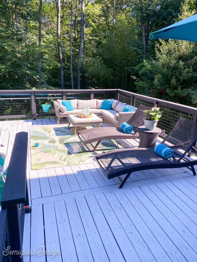 deck staged for selling house