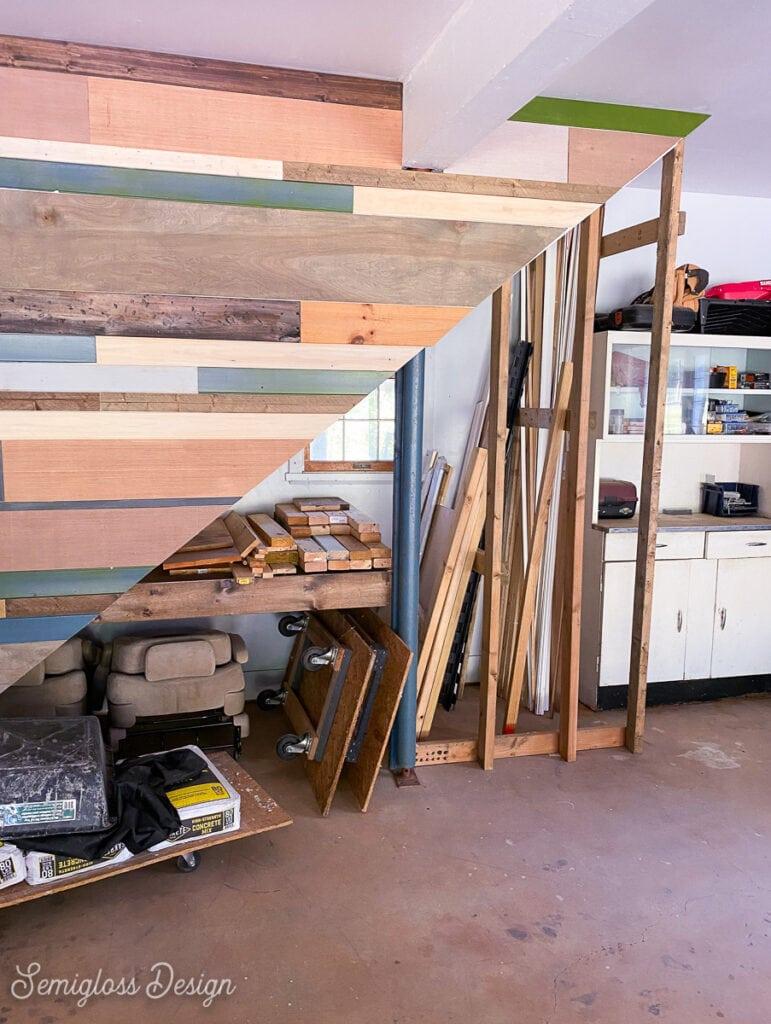 scrap wood in garage