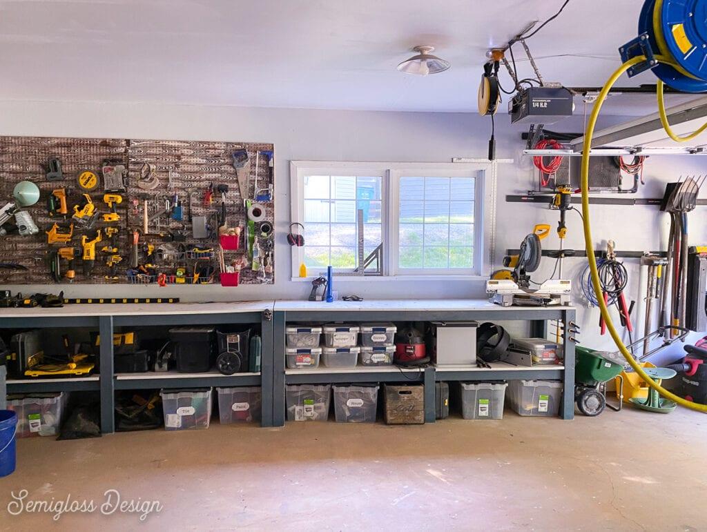garage staged for sale