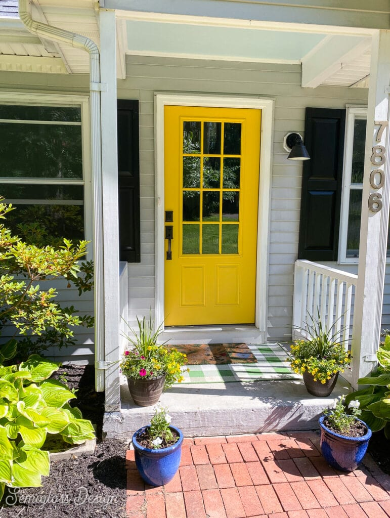 front doorway staged to sell