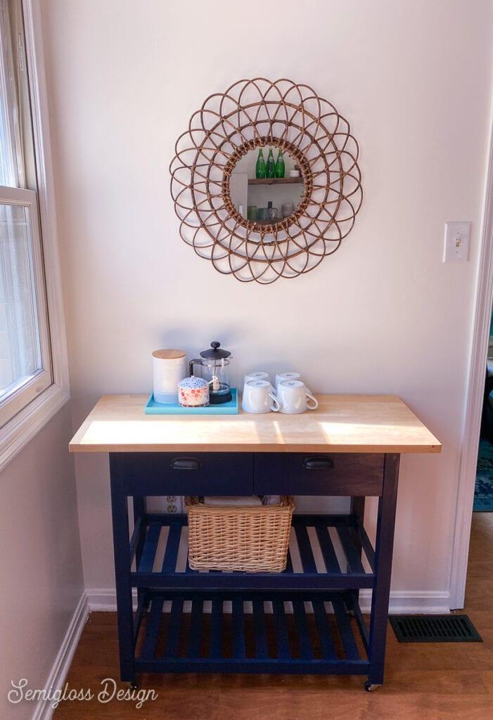 coffee station in kitchen