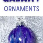purple and blue paint swirl ornament